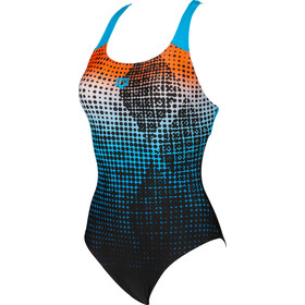 arena Daytrip New Swim Pro Back LB One Piece Swimsuit Dames, black/turquoise